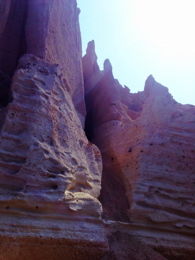 Pumice cliffs